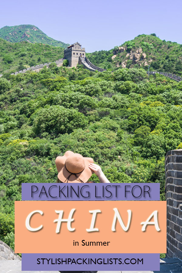 """what to pack for china in summer"", ""what to wear in china in summer"", ""china packing list"", ""girl on great wall of china"""
