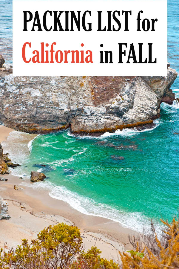 Female Packing List For California In Fall Autumn September October November Stylish Packing Lists